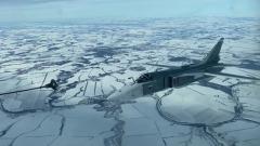 Минобороны России показало кадры тренировочных полетов российских истребителей
