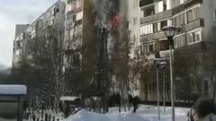 В Новой Москве при пожаре в девятиэтажке погибли дети: видео