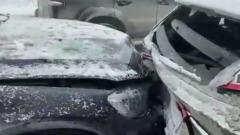 Авария из 20 машин перекрыла трассу М-5 «Урал»: метель и гололед