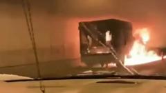 """В Москве в тоннеле воспламенилась """"Газель"""": движение перекрыли"""