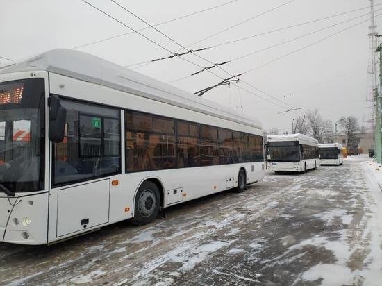 В Чебоксарах на три маршрута вышли четыре новых троллейбуса «Горожанин»