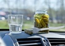 Жительница Хакасии выпивала и закусывала прямо за рулём автомобиля