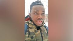 Видео ругательств чернокожего парня на русскую зиму вызвало жалость