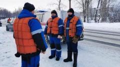 Карельские саперы проводят взрывные работы на реке Выг