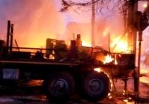 Пожар в Петро-Славянке оставил без газа 73 частных дома