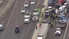 Страшное столкновение 133 машин в Техасе сняли на видео