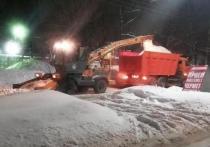 Коммунальщики убрали с улиц Рязани 5 тысяч кубометров снега