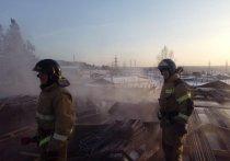 На стройке детсада в Тулуне произошёл пожар из-за греющего кабеля