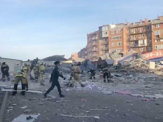 На месте взрыва супермаркета во Владикавказе найден живым охранник