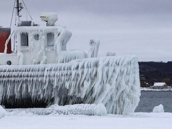 Обледенение судов прогнозируется в Таганрогском заливе