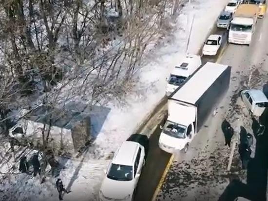 Под Ростовом-на-Дону произошло массовое ДТП