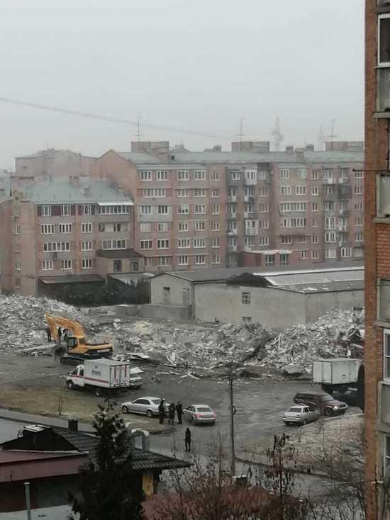 Во Владикавказе завершили расчистку завалов на месте взрыва в супермаркете