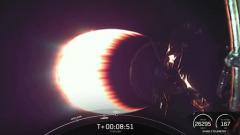 Первая ступень ракеты Falcon 9 при посадке утонула в океане