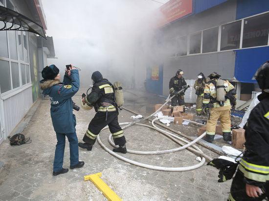Прокуратура начала проверку в связи с пожаром на рынке в Волгограде