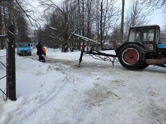 В больничном городке Обнинска перекрыли проезд из-за аварии на сетях