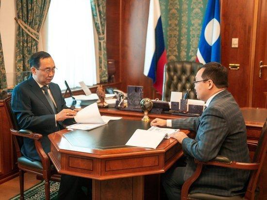 Айсен Николаев и Георгий Степанов обсудили пенсионное обеспечение якутян