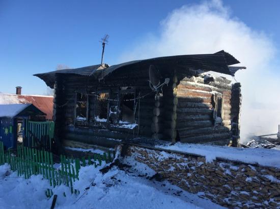На пожаре в Марий Эл погиб скот и обрушилась крыша дома