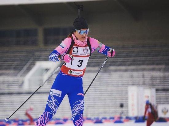 Красноярская биатлонистка Наталья Гербулова завоевала золото в Словакии