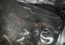 Ночью в Ивановской области сгорел автомобиль