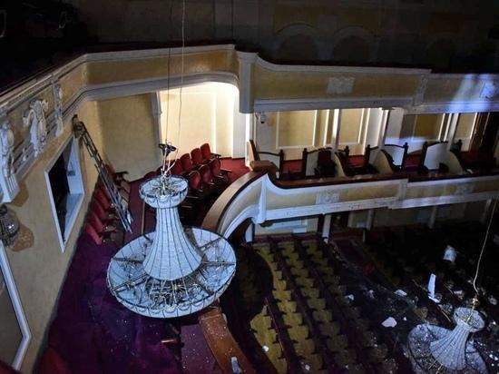 МЧС показало первое фото зала томского ТЮЗа после пожара