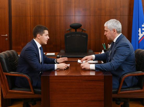 Глава Ноябрьска отчитался перед губернатором Ямала о благоустройстве и развитии города