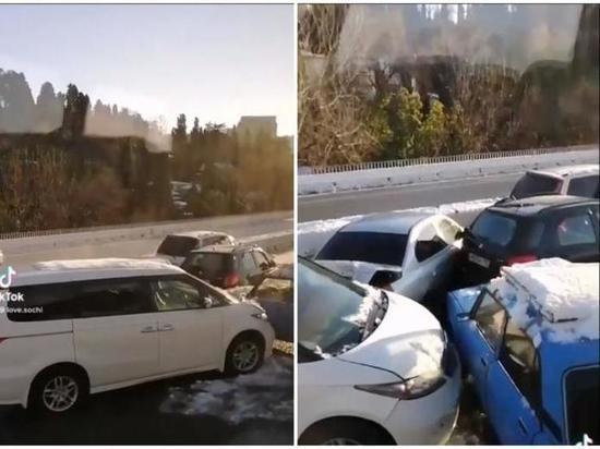 В Сочи произошла авария с участием пяти автомобилей
