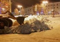 Еще с трех улиц Рязани вывезут снег в ночь на воскресенье