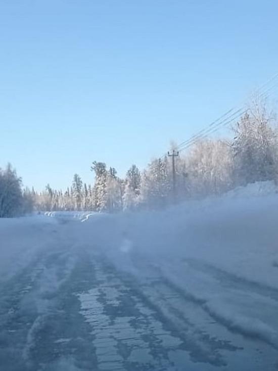 На пути в Шерегеш из-за последствий непогоды образовались большие пробки