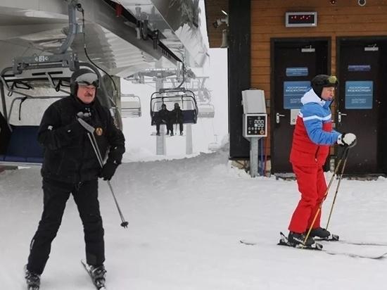 Успех переговоров Путин и Лукашенко отметили на краснополянской лыжне