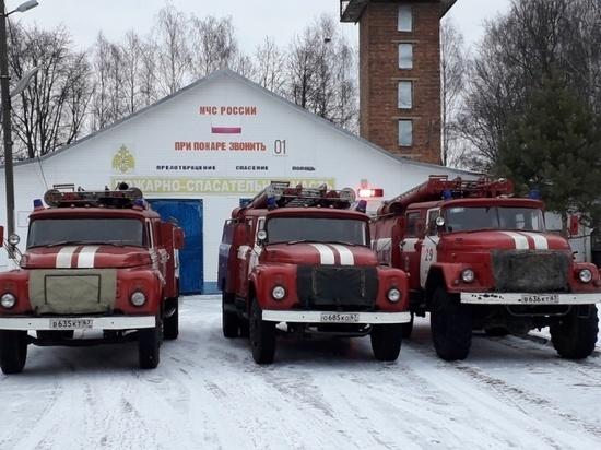 В Смоленской области 22 февраля вечером загорелся дом