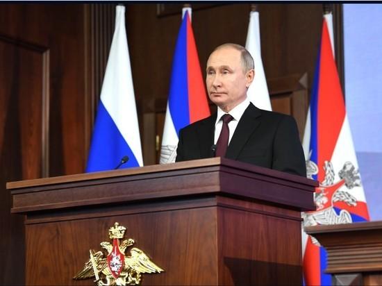 Путин поздравил ветеранов, военнослужащих и граждан с 23 февраля