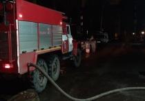 Ночью 23 февраля в Ивановской области сгорел гараж