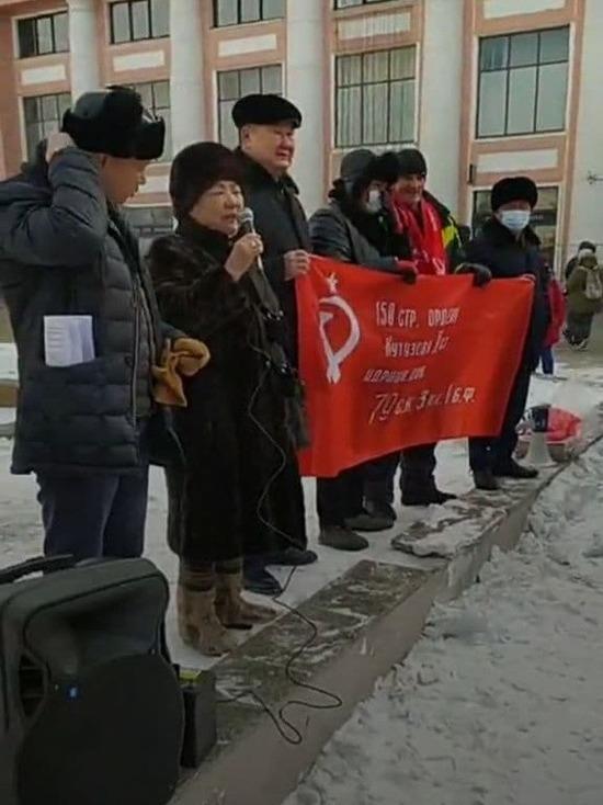 Полицейские вручили уведомления участникам несанкционированного митинга в Улан-Удэ