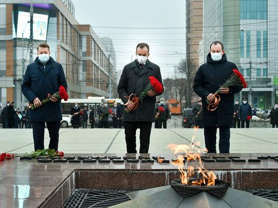 Губернатор Краснодарского края возложил цветы к вечному огню