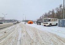 Россию заметает снегом