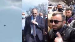 Появилось видео массовых протестов в Армении: Пашинян, истребители