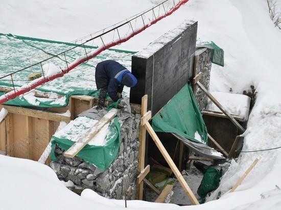 Строительство подземного перехода у Дома композиторов в Карелии продолжается