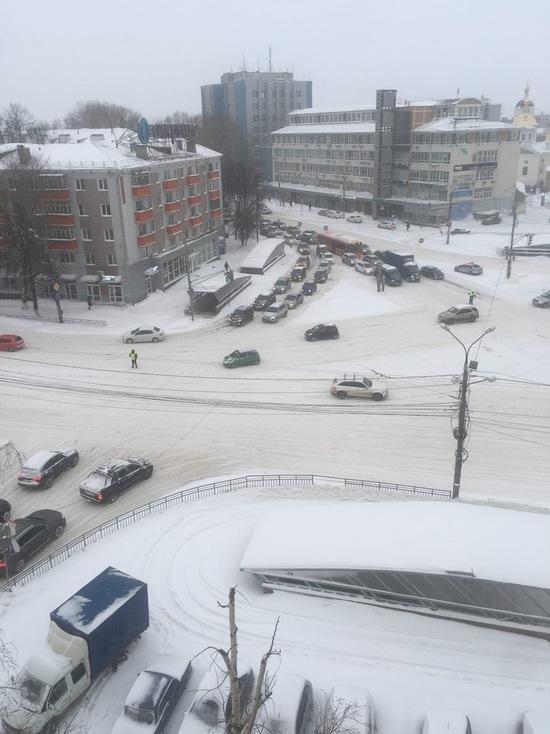 В Нижнем Новгороде десятибалльные пробки
