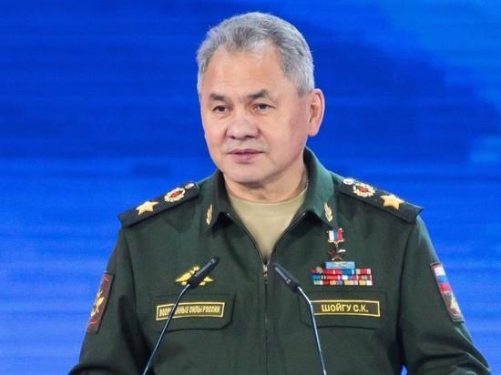 Шойгу поговорил по телефону с министром обороны Армении