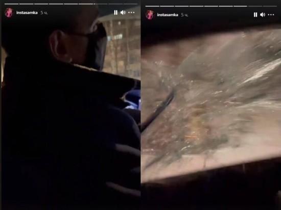 Инстасамка отказалась платить за такси и разбила в машине окно