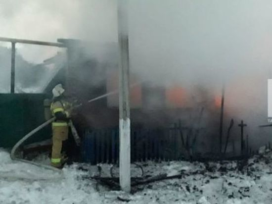В ночном пожаре в Татарстане погиб мужчина