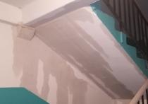 В рязанской многоэтажке на улице Васильевской две недели протекает крыша