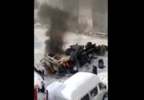 В центре Йошкар-Олы во дворе пожарной части сгорел грузовик