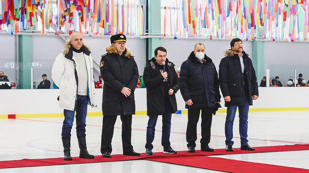 """В Мурманске открытии новую ледовую арену """"Метеор"""""""