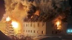 В поселке Айхал Мирнинского района Якутии сгорела жилая двухэтажка
