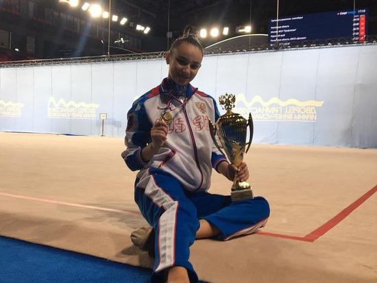 Гимнастка из Донецка принимает участие в Чемпионате России