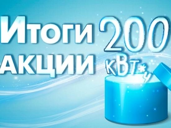Сто забайкальцев получили в подарок 200 квт/ч по новогодней акции «Читаэнергосбыта»