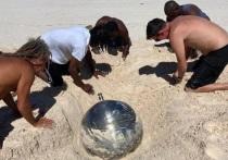 На Багамах найден загадочный шар из титана с русскими надписями