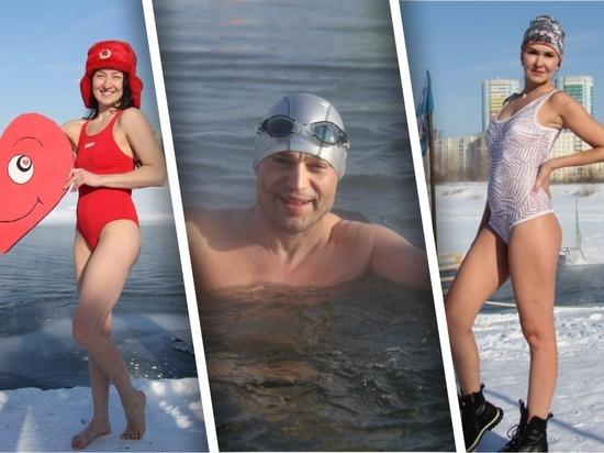 Новосибирские моржи сутки провели в ледяной воде в память о герое СССР