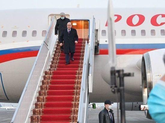 Глава правительства России Михаил Мишустин прилетел в Барнаул